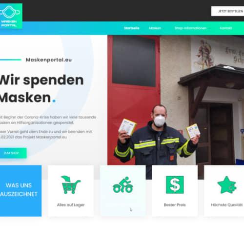 MASKENPORTAL Webshop