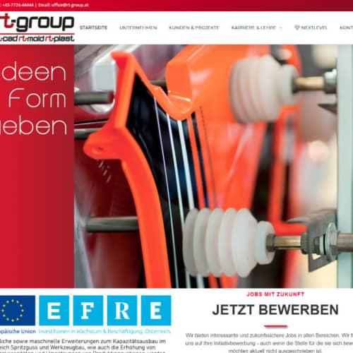 RT-Group Firmenwebsite